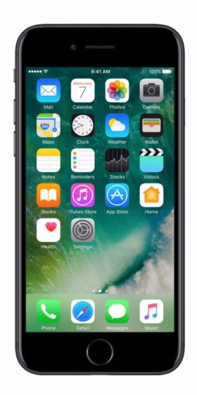Refurbished iphone 7 32gb zwart voorkant