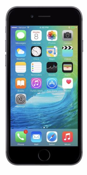 Refurbished iPhone 6 64GB Zwart Voorkant