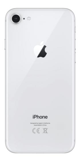 Refurbished iPhone 8 64GB Zilver Achterkant